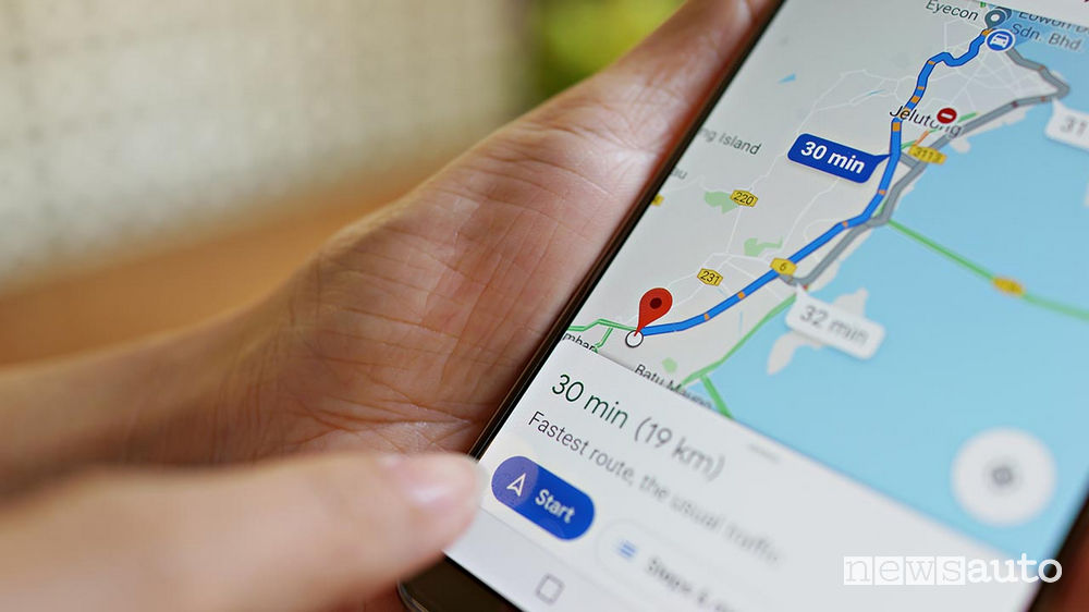 tachimetro su Google Maps