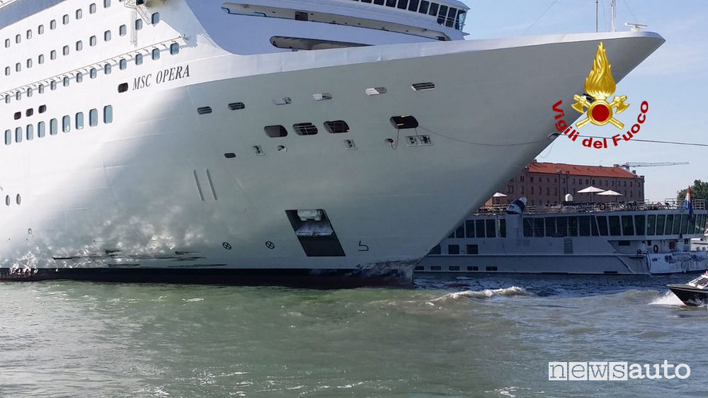 MSC Opera incidente Laguna di Venezia