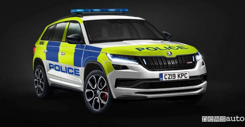 Skoda Kodiaq RS SUV sportivo Polizia inglese
