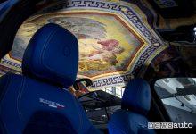 Cielo Alfa Romeo Giulia Grand Tour Garage Italia affesco di Apollo circondato dallo Zodiaco wrapping
