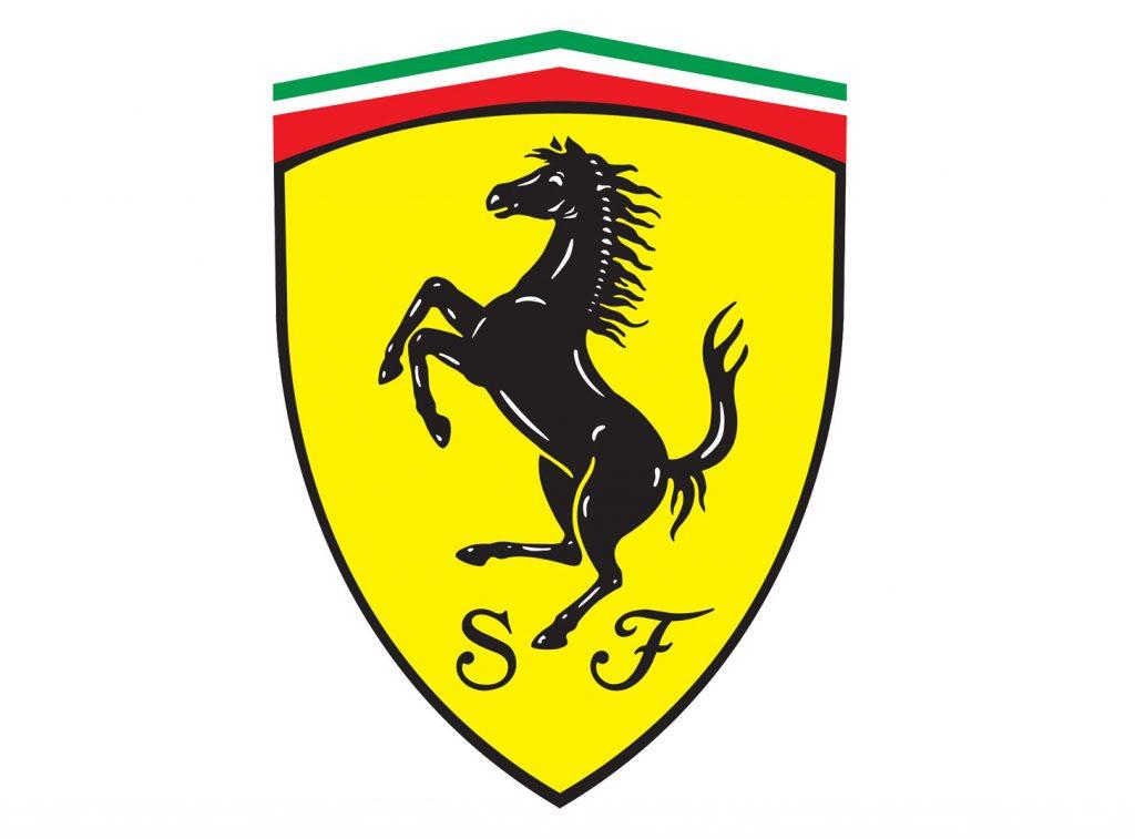 Logo Ferrari a forma di scudo