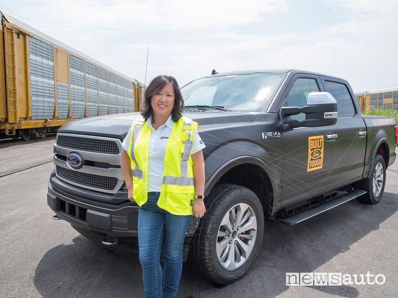 Linda Zhang capo del progetto Ford F-150 pick-up elettrico