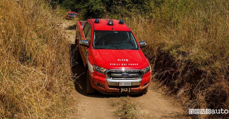 Corso di guida in off road Ford Ranger Vigili del Fuoco