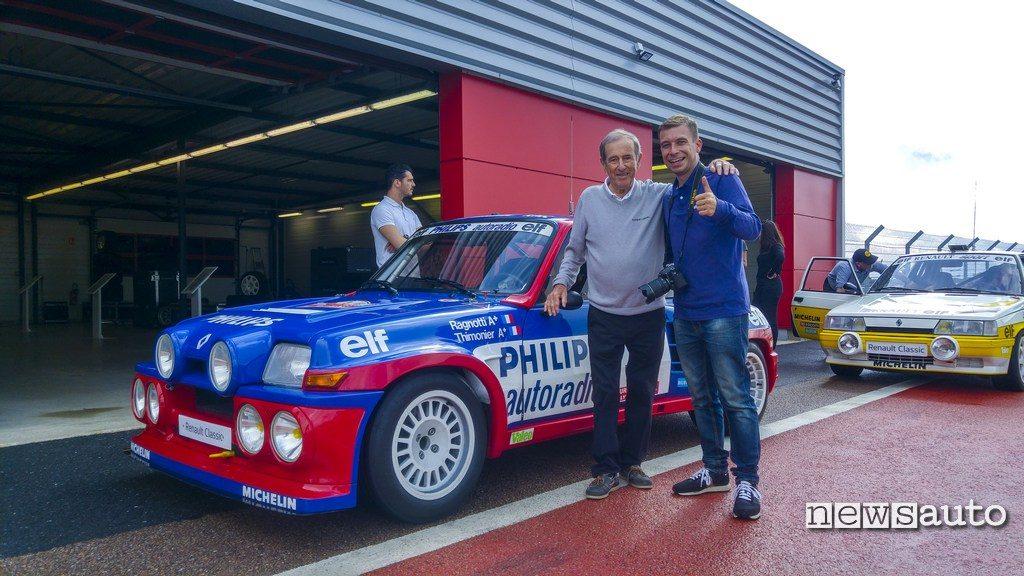 Marco Paternostro con Jean Ragnotti e R5 Maxi turbo