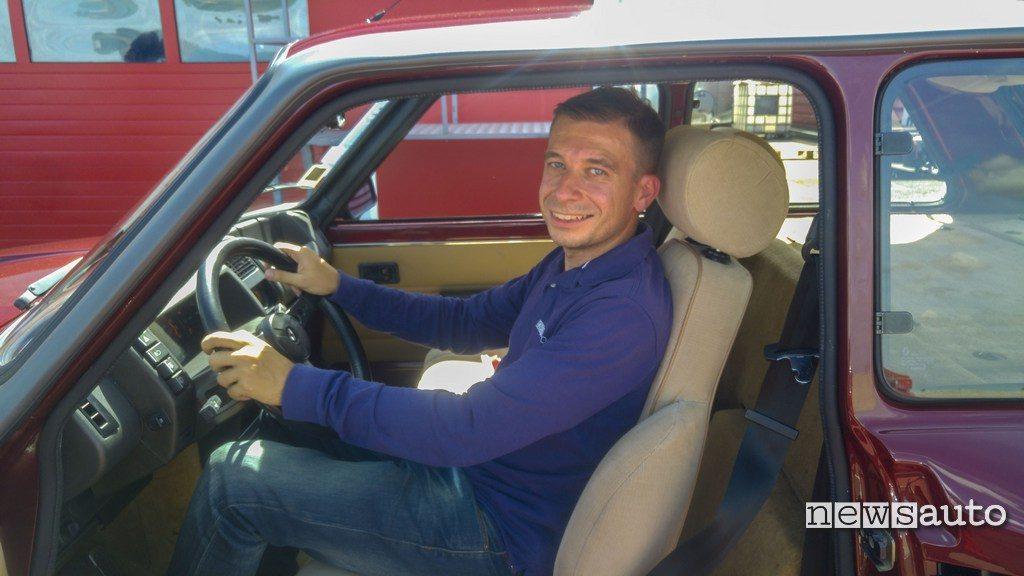 Marco Paternostro su Renault R5 turbo2