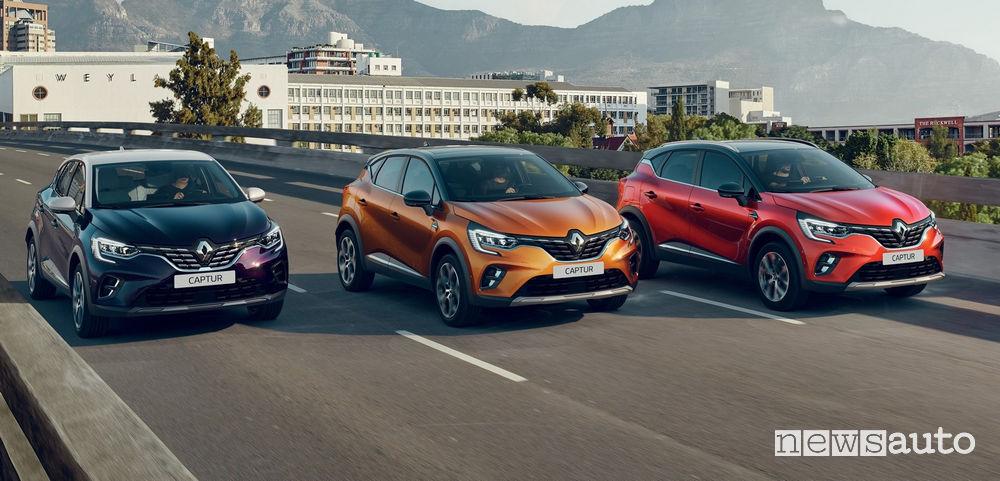 Gamma nuovo Renault Captur 2020