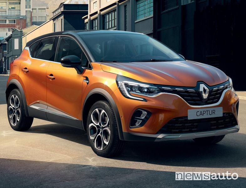 Nuovo Renault Captur 2020 vista di profilo