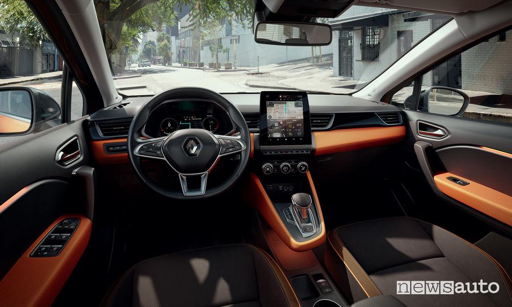 Nuovo Renault Captur 2020 plancia strumenti