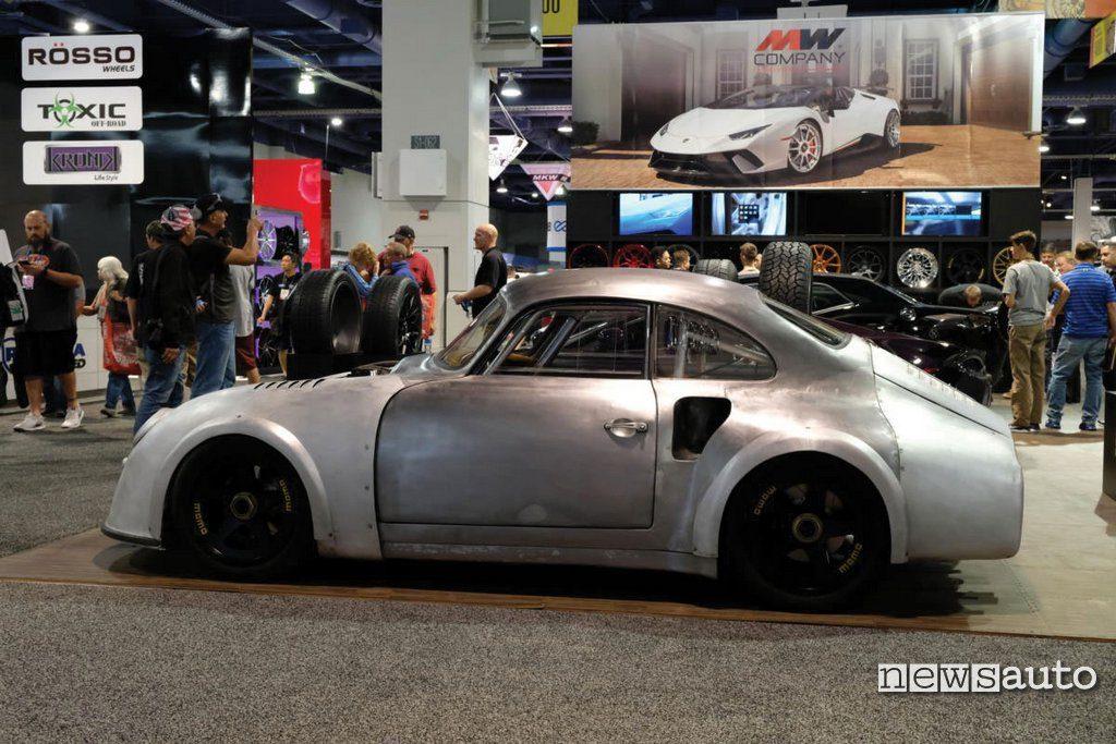 Vista laterale Emory Porsche 356 RSR in preparazione