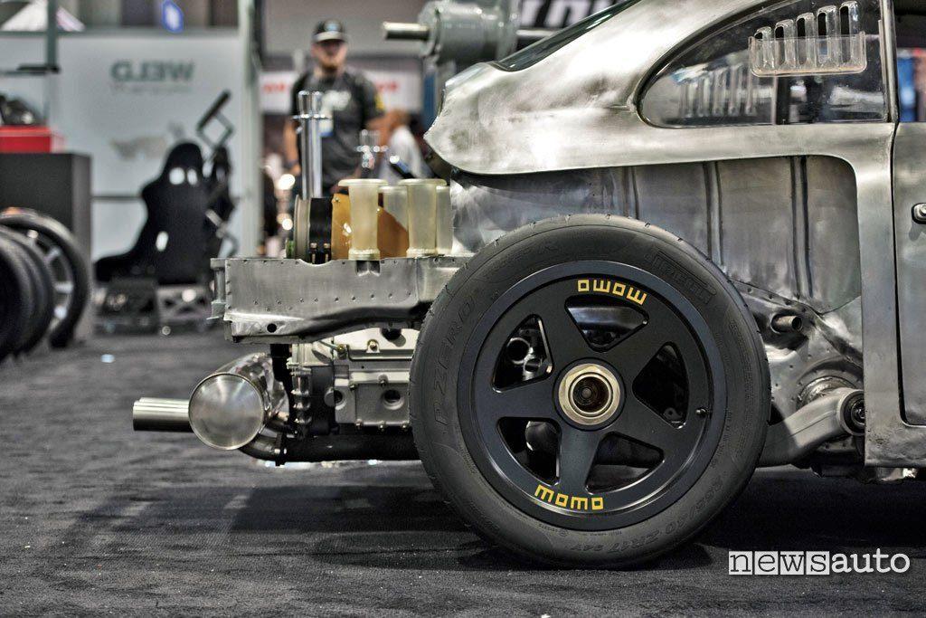 Vista laterale posteriore Emory Porsche 356 RSR