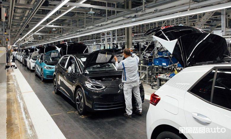 Fabbrica Volkswagen auto elettriche Zwickau