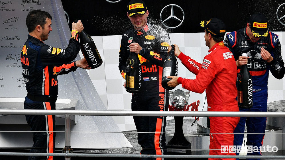 F1 podio Gp di Germania 2019