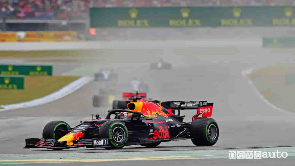 Verstappen con la Red Bull Honda ha vinto il Gp di Germania 2019
