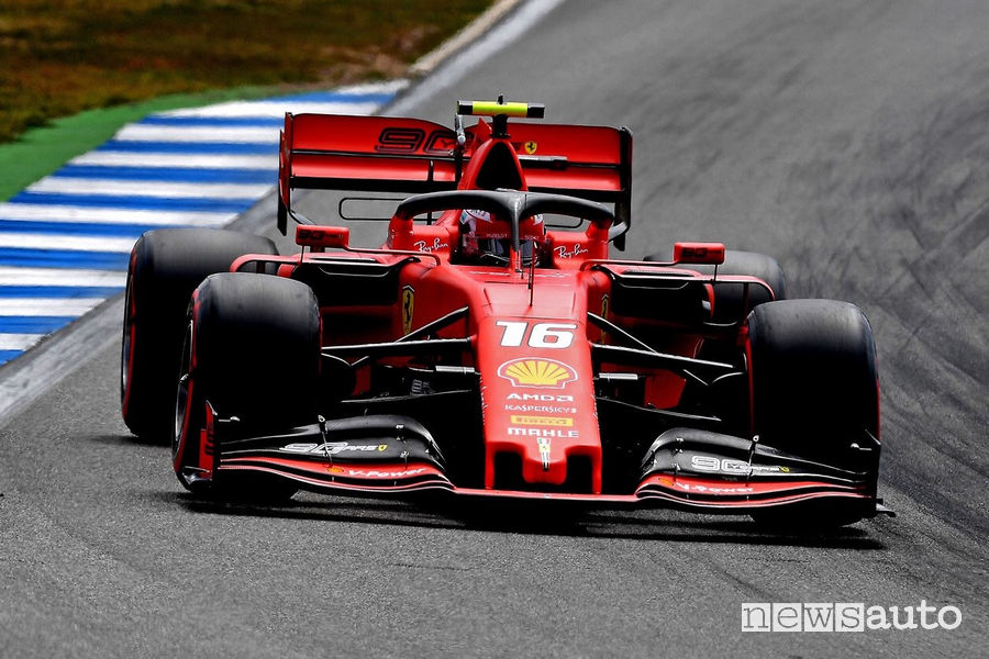 Charles Leclerc Ferrari SF90 Qualifiche F1 Gp Germania 2019