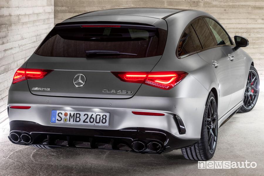 Mercedes-AMG CLA 45 S 4Matic+Shooting Brake vista posteriore