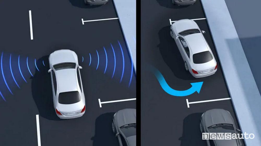 Active Parking Assist con Parktronic sulla Mercedes Classe B Sport Extra