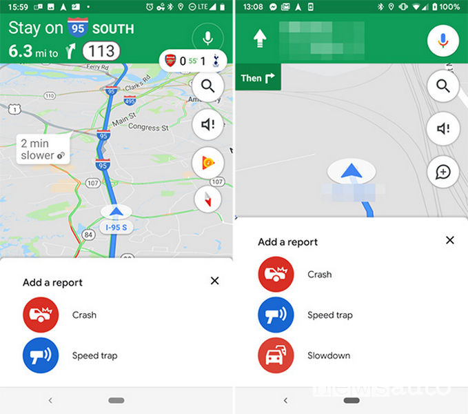 App navigazione Google Maps