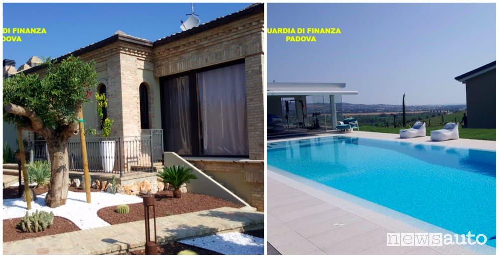 Sequestro Guardia di Finanza villa Padova frode fiscale carburanti