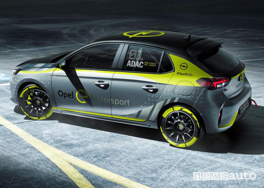 Opel Corsa-e Rally Concept vista laterale