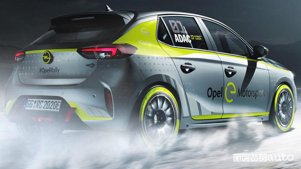 Opel Corsa-e Rally Concept vista posteriore