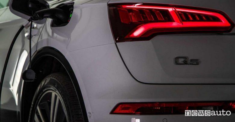 Sportello di ricarica Audi Q5 Phev