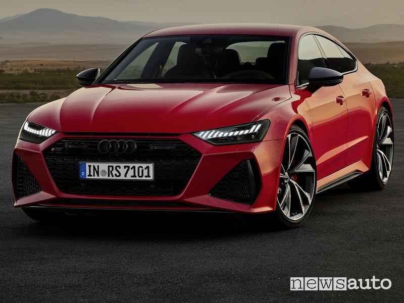 Nuovo frontale, griglia a nido d'ape nuova Audi RS7 Sportback 2020