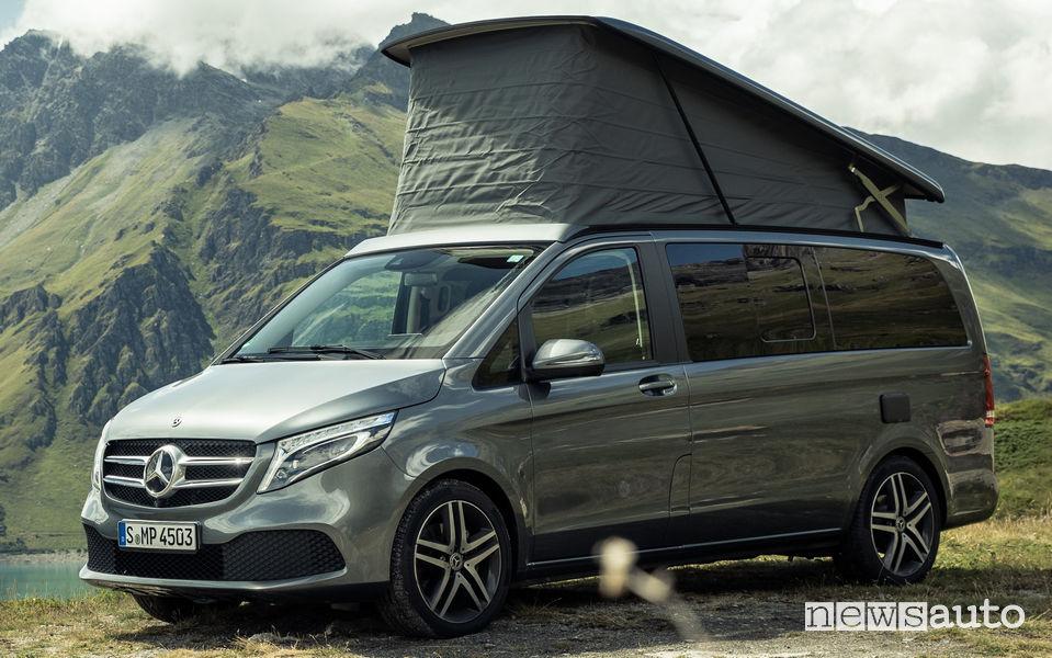 Fiancata lato guidatore camper Mercedes Marco Polo