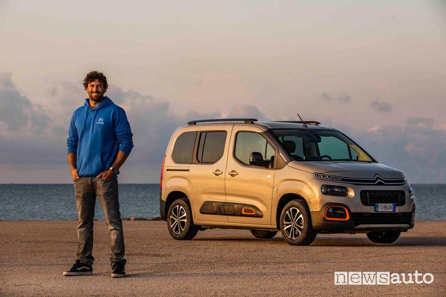 Matteo Iachino ed il suo Citroën Berlingo