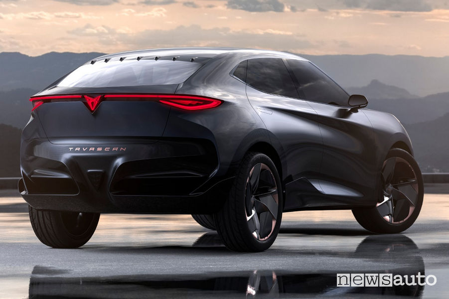 Cupra Tavascan Concept vista posteriore