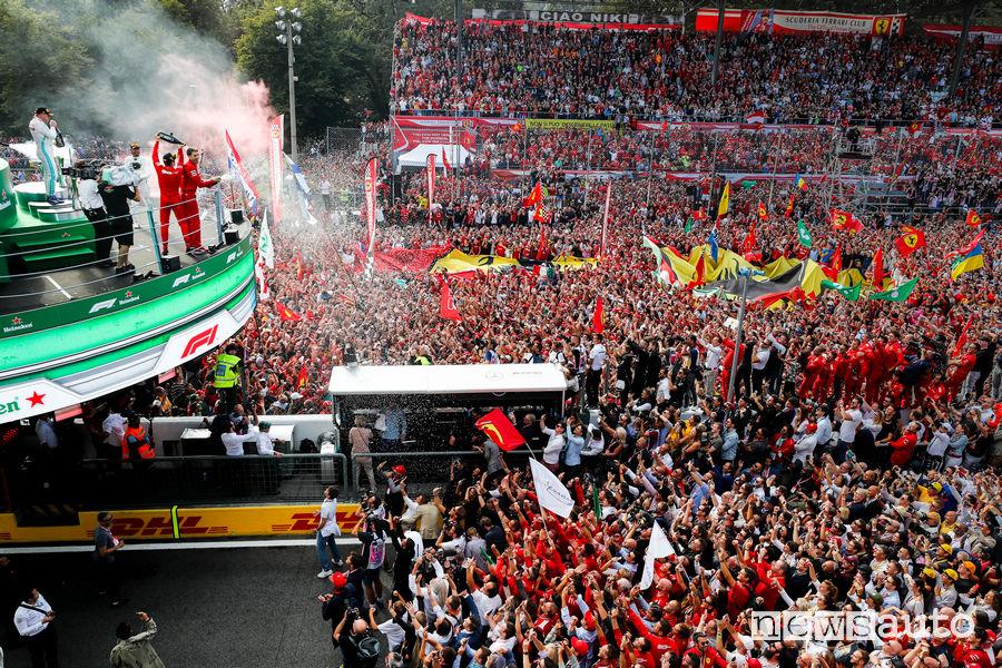 F1 Gp Italia 2020 a Monza a porte chiuse per Covid-19