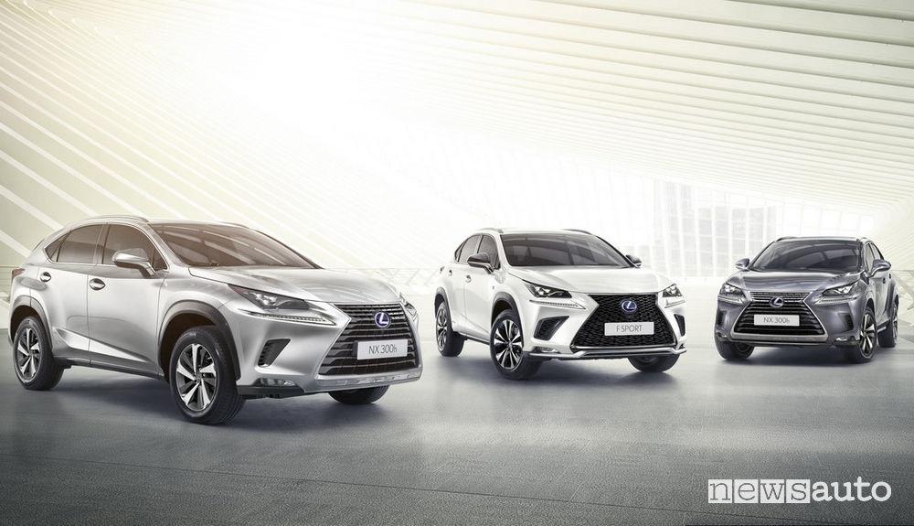 Gamma Lexus NX Premium, Luxury e F Sport