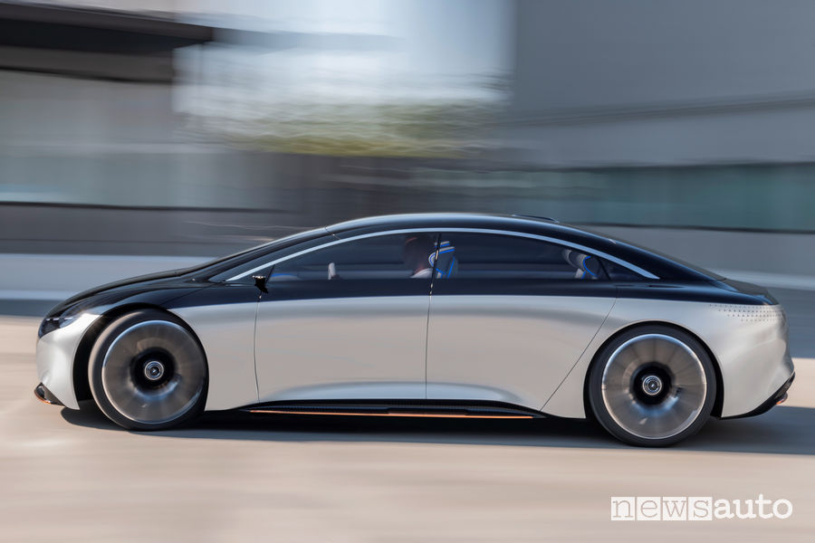 Vista laterale in movimento Mercedes-Benz VISION EQS