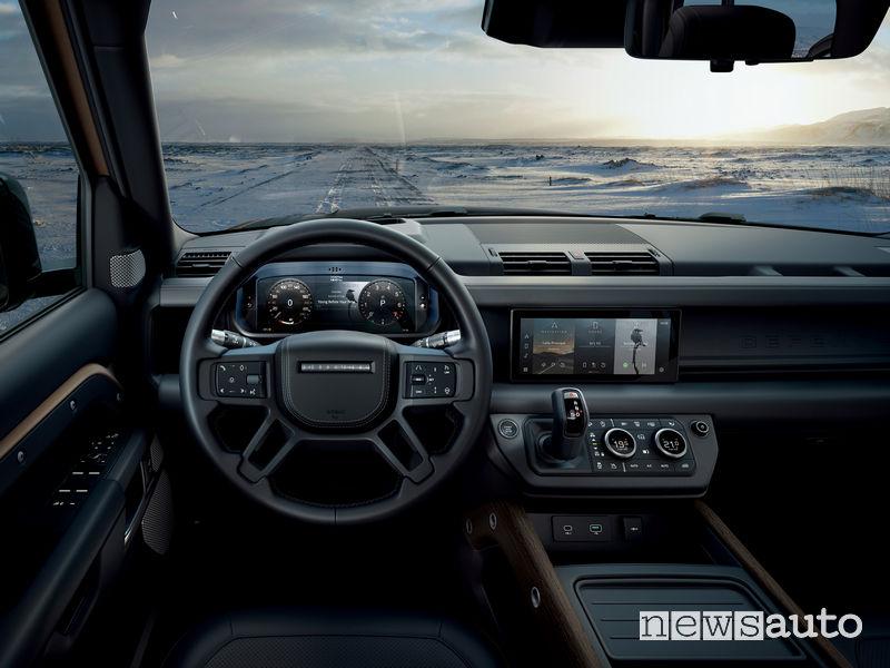 Volante, plancia strumenti nuovo Land Rover Defender 2020