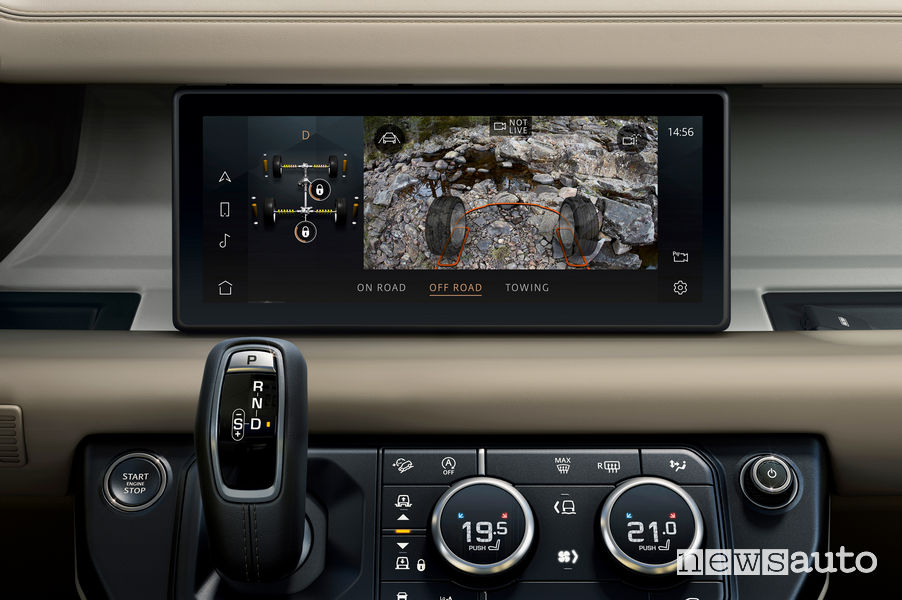 Tecnologia ClearSight Ground View nuovo Land Rover Defender 2020