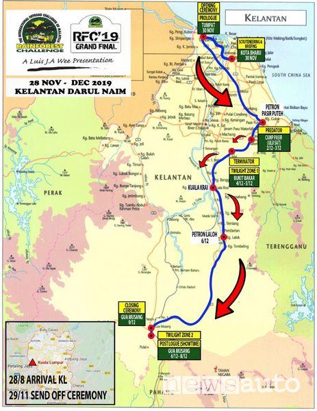 Percorso 2019 finale Rainforest Challenge in Malesia