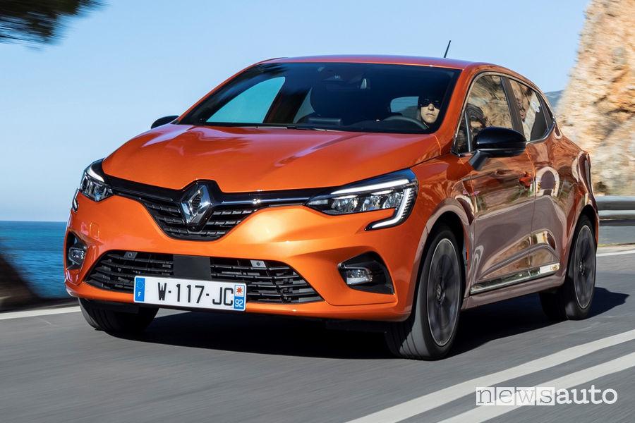 Frontale e nuovi fari a LED anteriori Renault Clio 2020