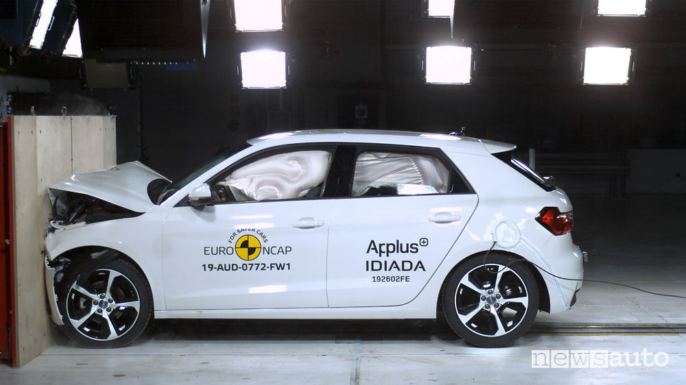 Crash test Euro NCAP urto frontale Audi A1
