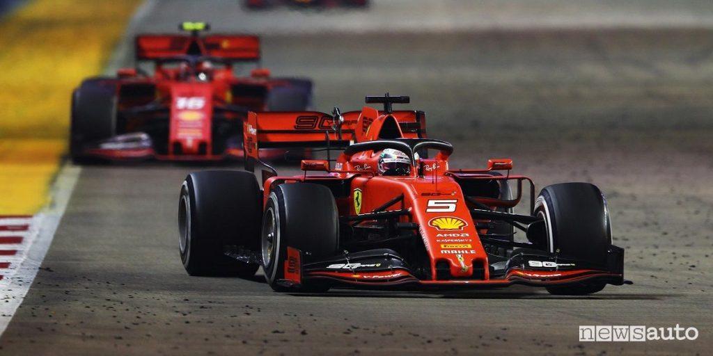 F1 Gp Singapore 2019, doppietta e vittoria Ferrari