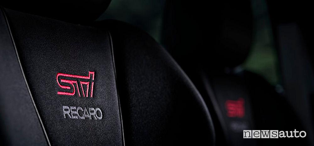 Sedili Recaro STI della Subaru