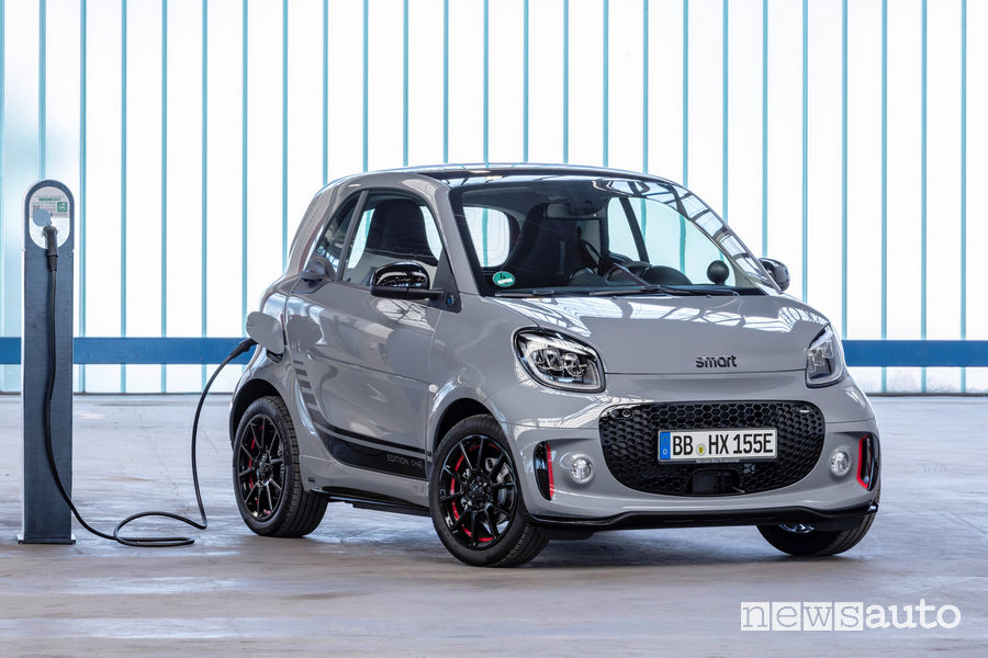 smart EQ fortwo coupé 2020 in ricarica da wallbox