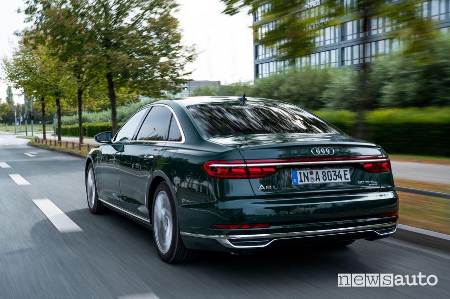 Posteriore, fari a LED Audi A8 L 60 TFSI e ibrida plug-in