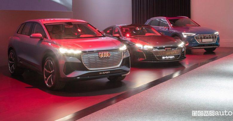 Auto elettriche e ibride Audi