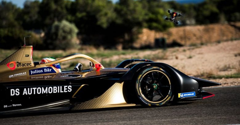Vista laterale, Halo DS E-Tense 2020 Formula E 2020