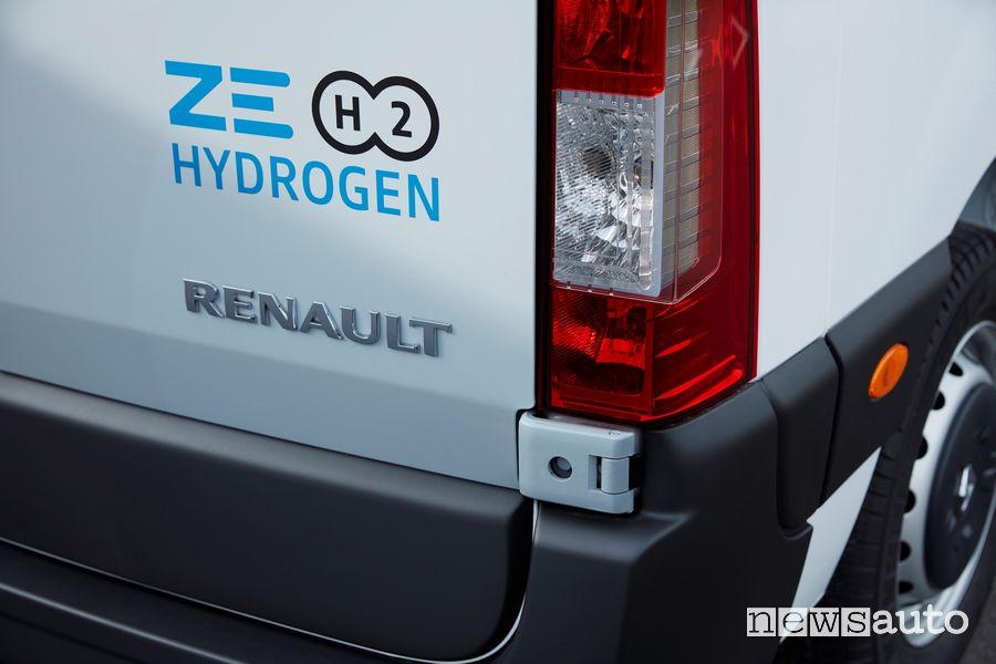 Faro posteriore, scritta idrogeno Renault Master Z.E Hydrogen
