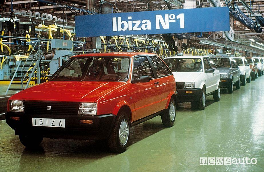 Linea di produzione Seat Ibiza prima serie 1984