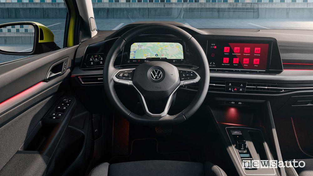 Quadro strumenti navigatore Digital Cockpit Volkswagen Golf 8 2020