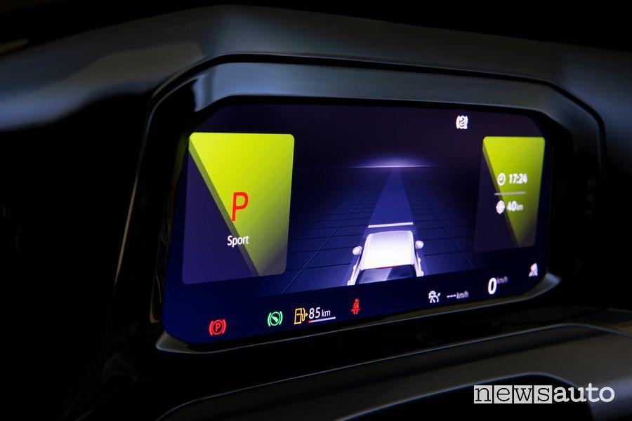 Quadro strumenti schermata ADAS Volkswagen Golf 8