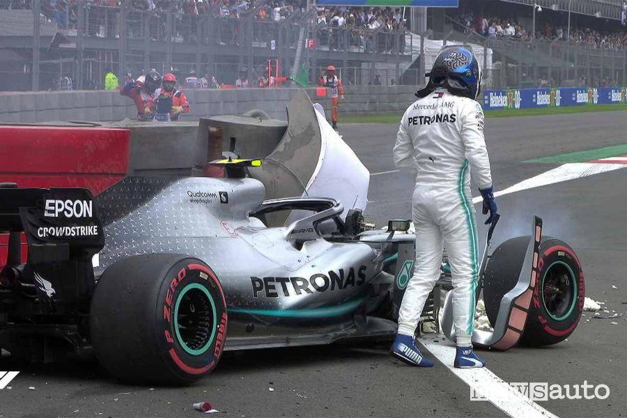 Qualifiche F1 Gp Messico 2019 incidente Mercedes Bottas