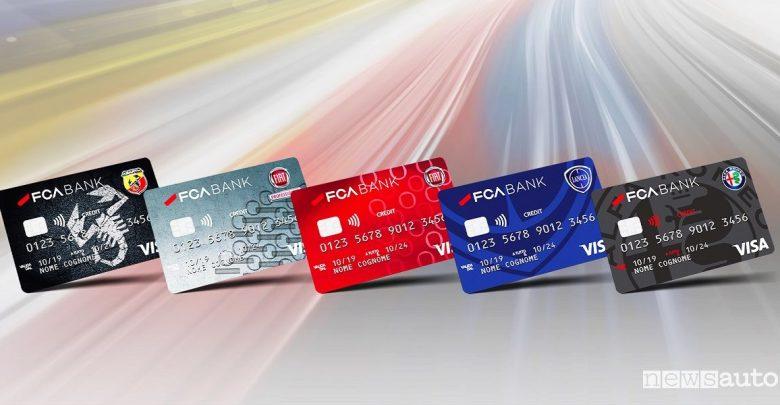 Carta di credito Abarth, Alfa Romeo, Fiat e Lancia