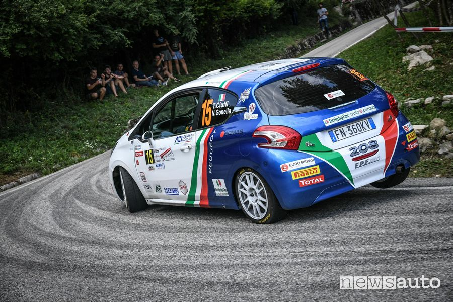 Rally Due Valli 2019 Peugeot 208 R2 Ciuffi/Gonella